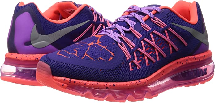 Nike Air MAX 2015 Lava (GS), Zapatillas de Running para Niñas, Morado/Plateado/Rosa (CRT Purple/Mtllc Slvr-FCHS GLW), 37 1/2 EU: Amazon.es: Zapatos y complementos