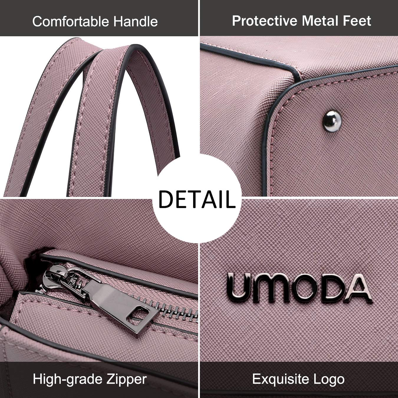 Laptop Bag for Woman,13-15.6 Inch Laptop Tote Bag Briefcase with Padded Compartment, Best [Purple] by UMODA (Image #3)