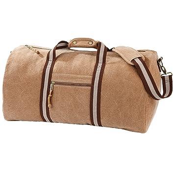 105806cc48 Quadra Vintage Canvas Holdall Duffle Bag - 45 Litres (One Size) (Sahara)