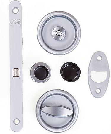 Cerradura de puerta corredera para baño AGB Scivola T: Amazon.es: Bricolaje y herramientas