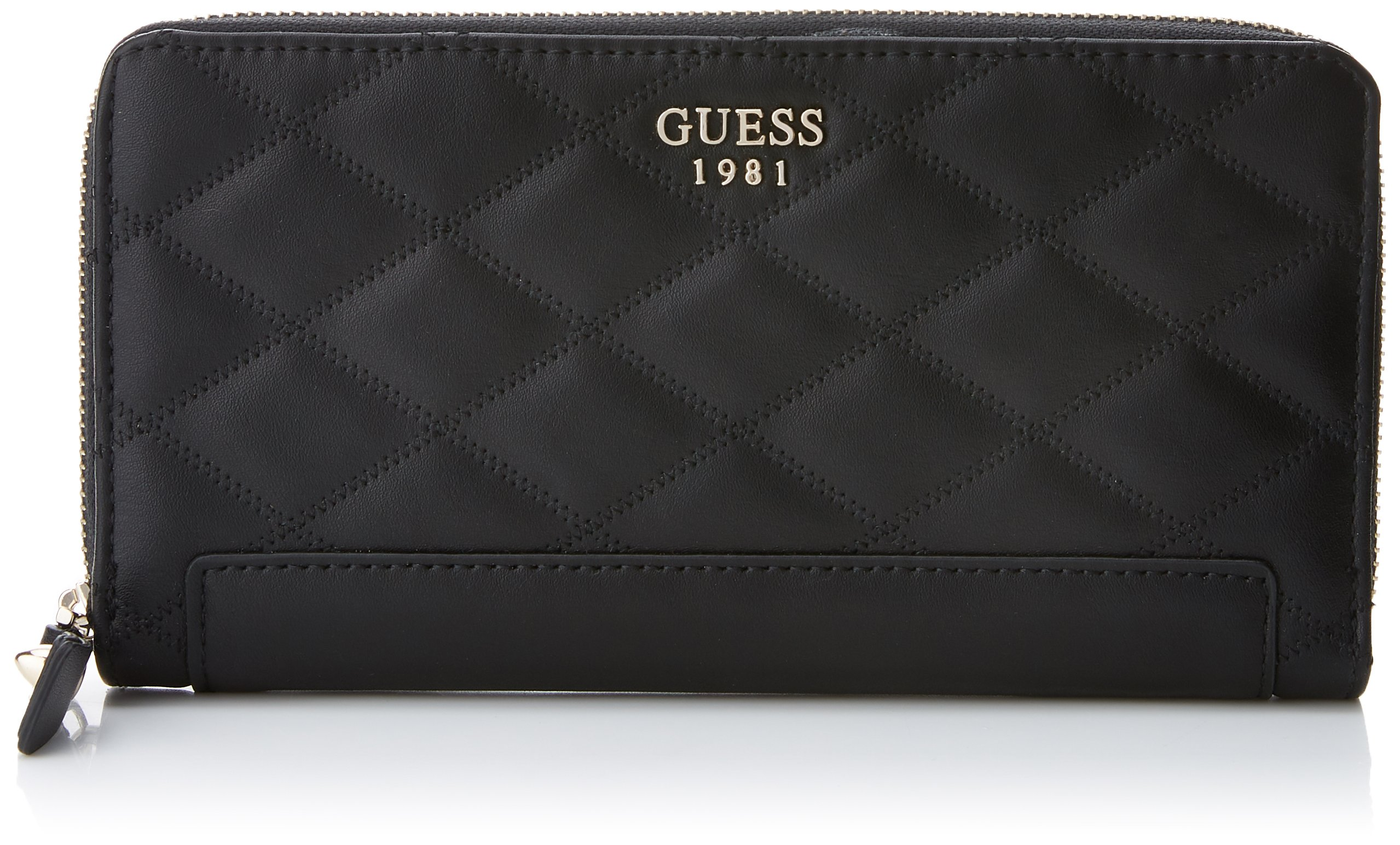 GUESS Penelope Quilted Check Organizer Wallet Clutch Bag