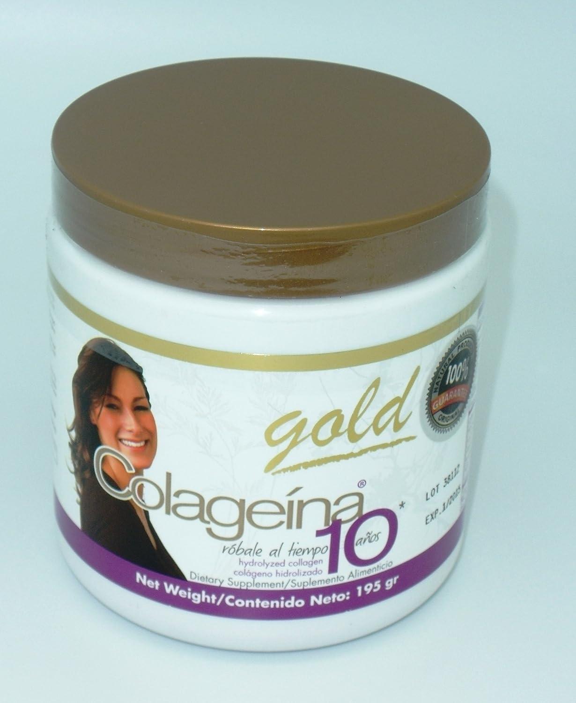Amazon.com : Colageina 10 Gold Tapa Dorada Sabor a UVA - 195 gr : Beauty Products : Beauty