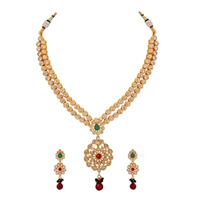 jewellery jewel and designs pin diamond necklace set uncut satyanarayana jewels
