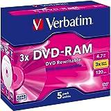 Verbatim 43450 DVD-RAM 3x 4.7GB 5pk