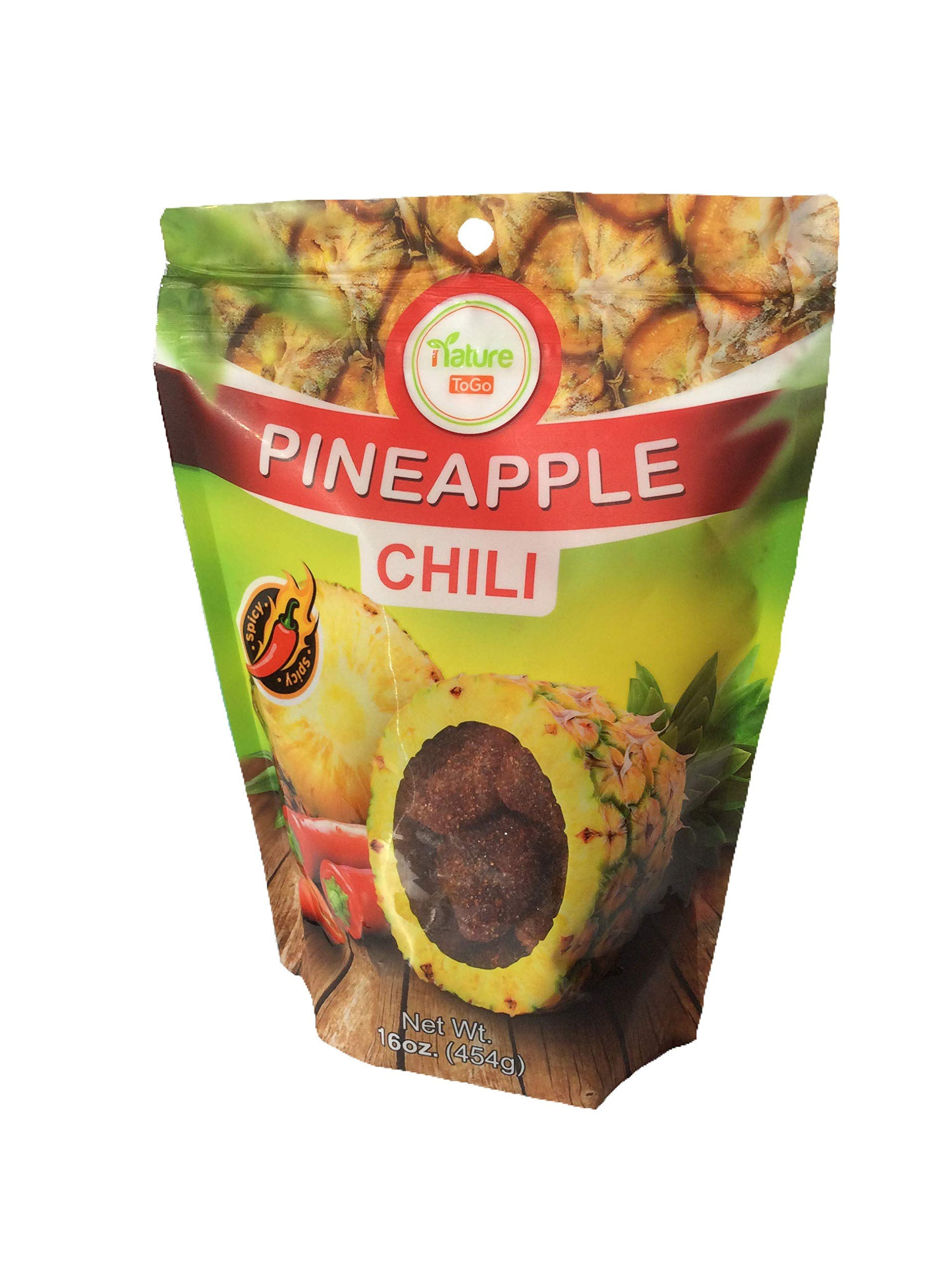 Nature ToGo Pineapple Chili Tidbits, Net Wt 16 oz, excellent source of dietary fiber by Nature To Go