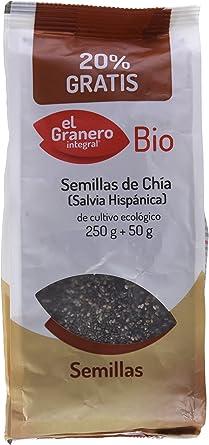 El Granero Integral Semillas De Chia Bio 250 g: Amazon.es: Alimentación y bebidas