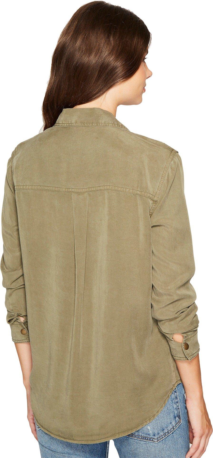 Splendid Women's Military Shirt, Vintage Olivine, S