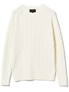 Cotton Cable Crewneck Sweater 11-15-1160-103: White
