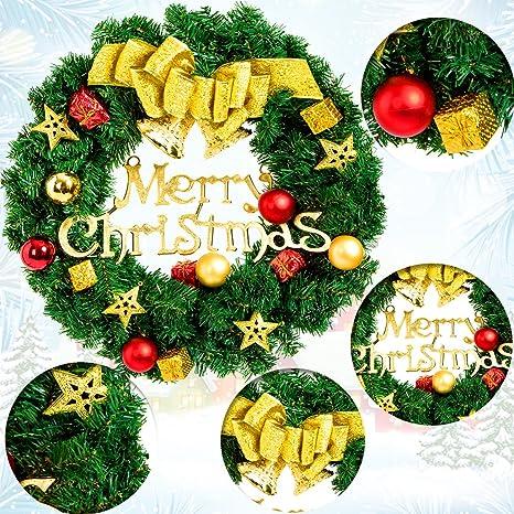 Amazon.com: Christmas Wreaths For Front Door Merry Christmas ...