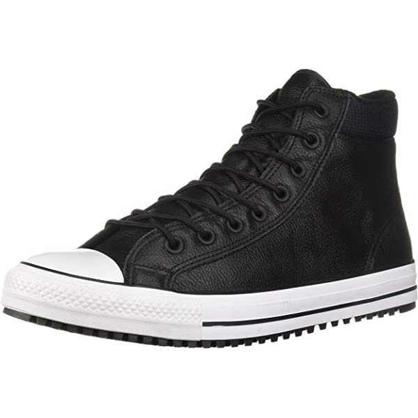 Converse Leather All Star Double Collar Ox in Black for Men