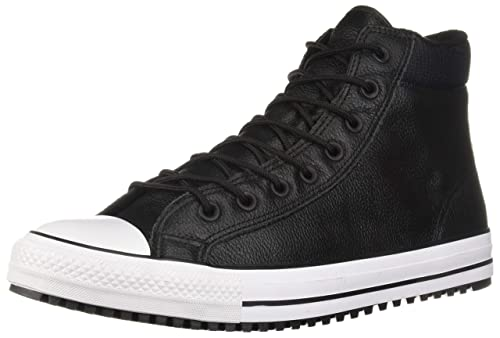 daa9dd67c5ea6f Converse CTAS PC Boot Hi 162415C Leather Textile Unisex Trainers - Black  White - 36.5