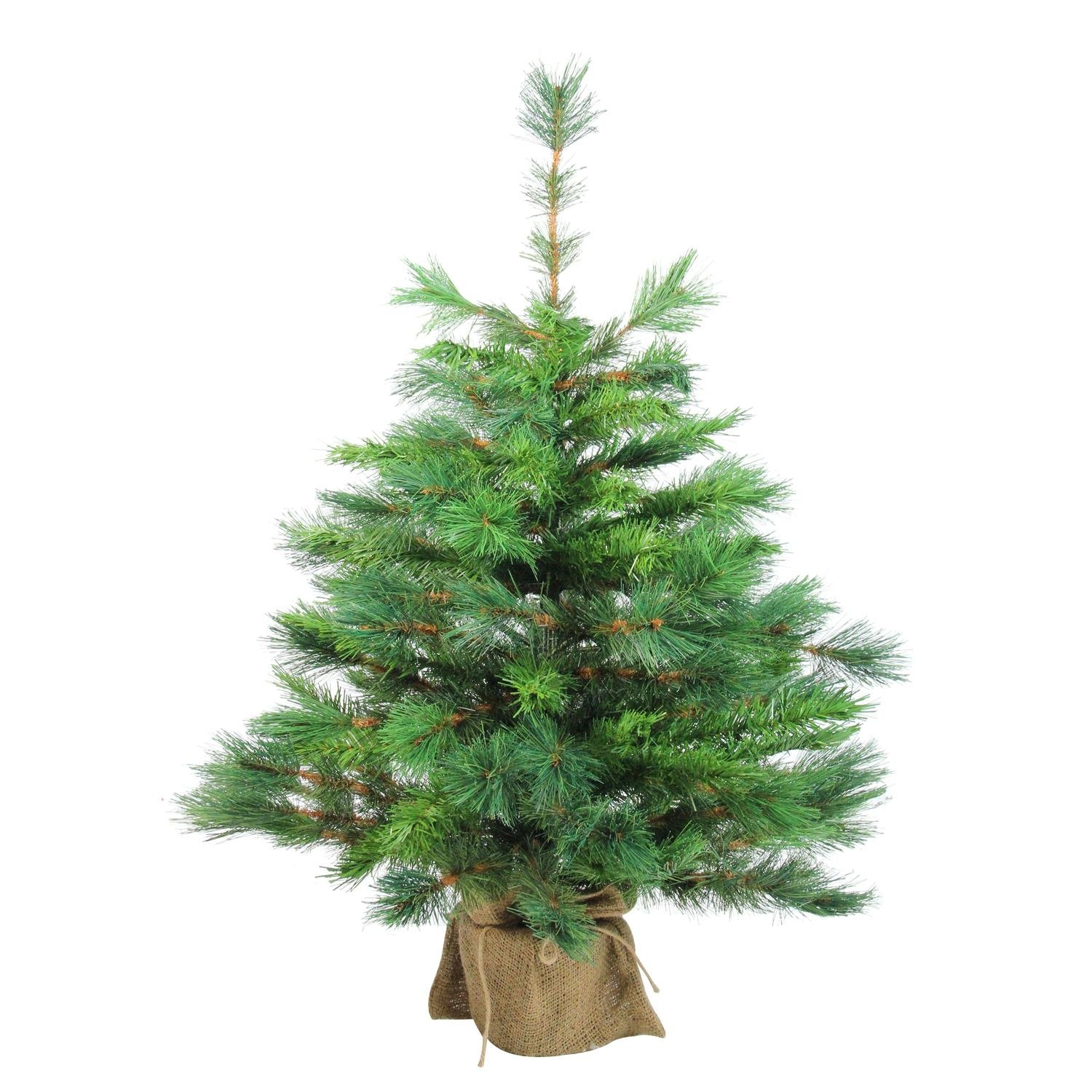 Northlight V04024 Artificial Christmas Tree in Burlap Base, 36''