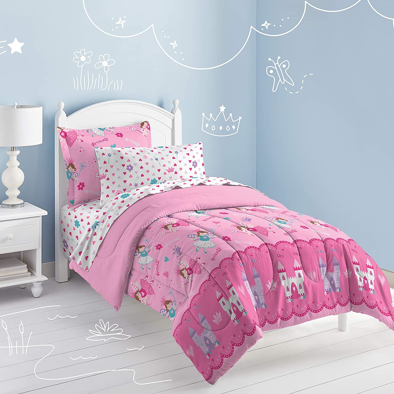 New Girls Princess Teens Home Bedding Magic Unicorn Pink Comforter Sheet Set