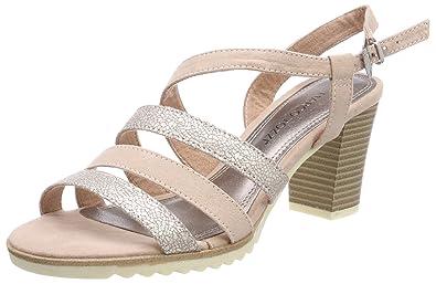 Womens 28705 Sling Back Sandals, Beige, 4 UK Marco Tozzi