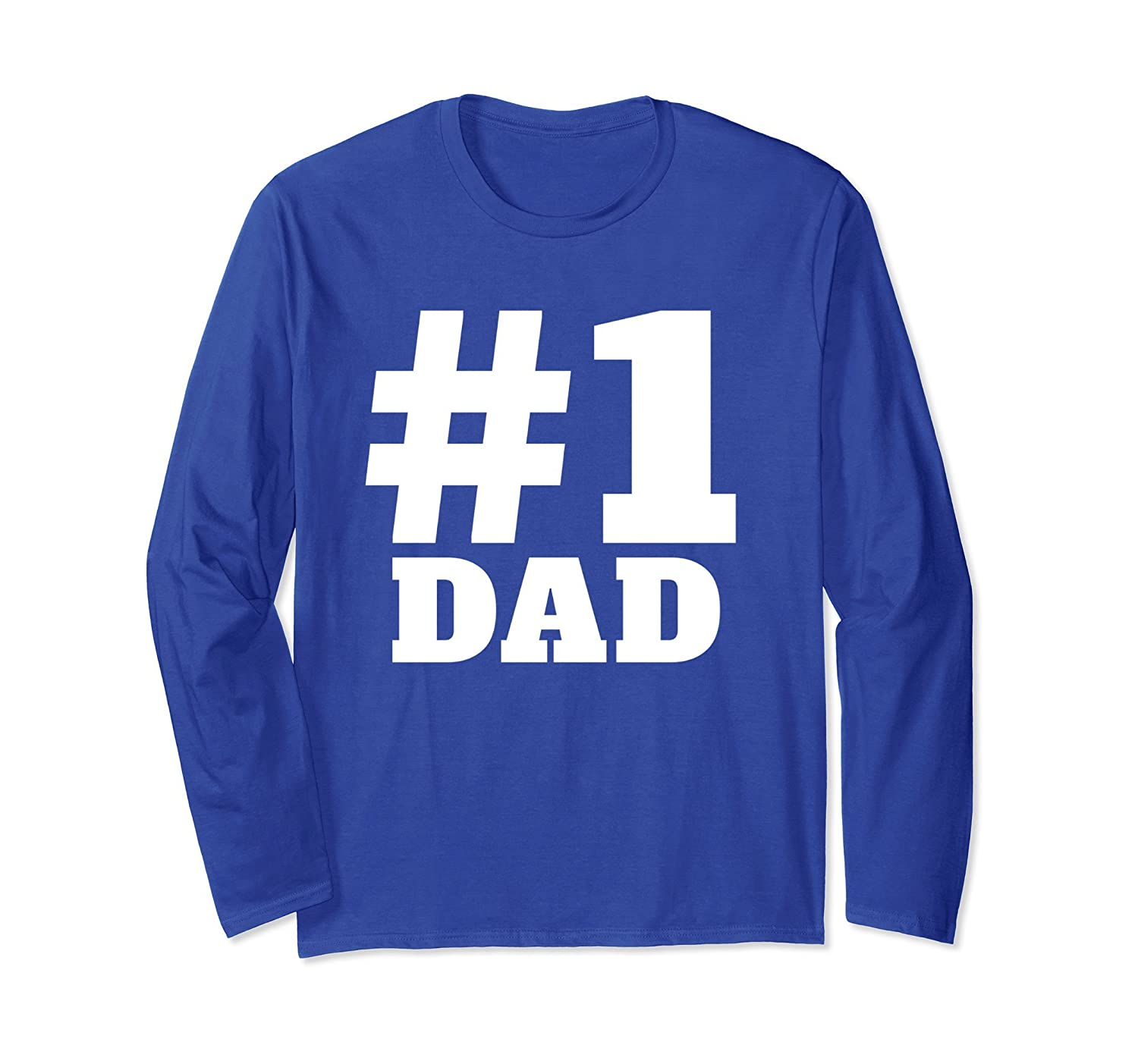 #1 DAD Long Sleeve T-Shirt-alottee gift