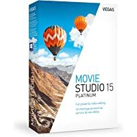 Vegas Movie Studio 15 Platinum|Standard|1 Device|Perpetual License|PC|Disc