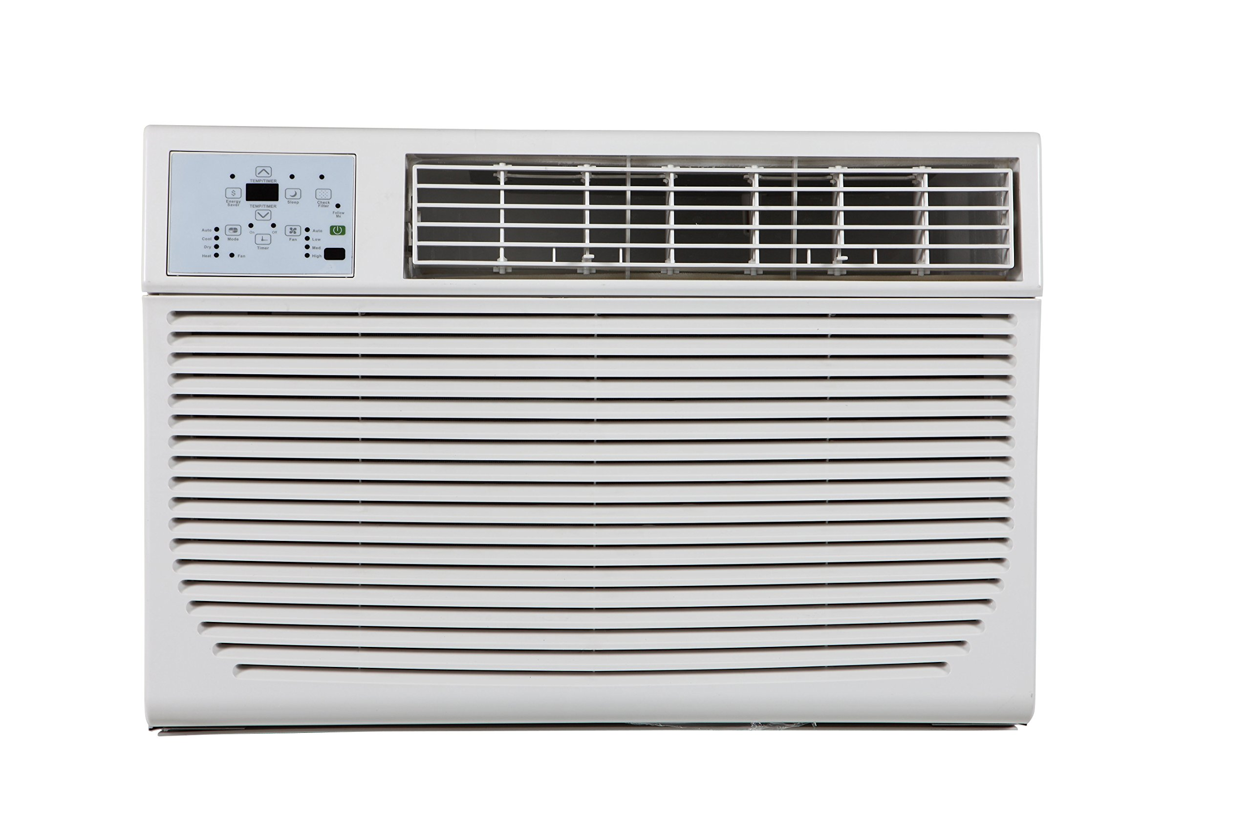 Impecca 10,000 BTU 230V Electronic Controlled Through The Wall Air Conditioner with Remote, h, 6-15P/220 by Impecca