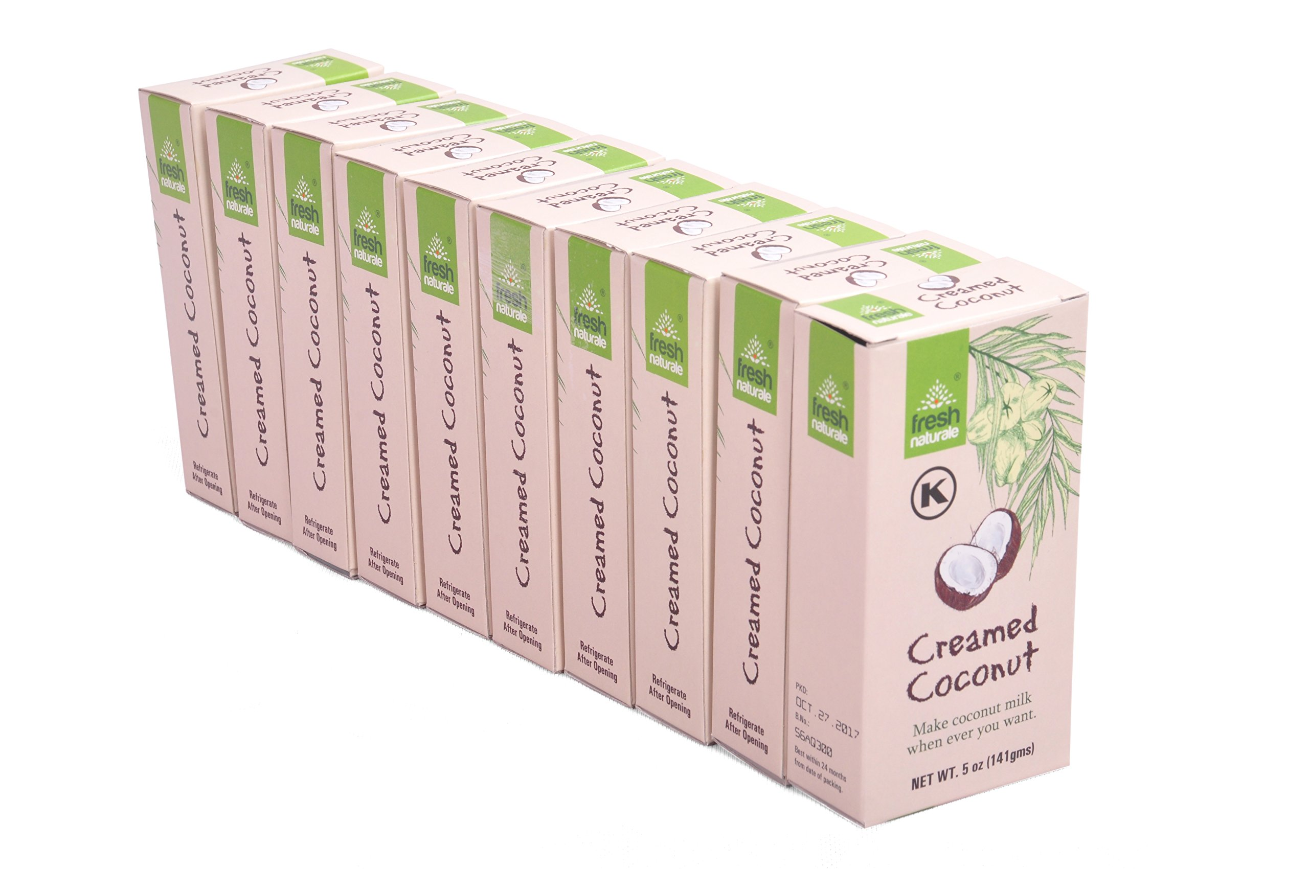 Creamed Coconut 141 gms (5 oz) x 10 from Fresh Naturale Kosher Certified (pack of 10)