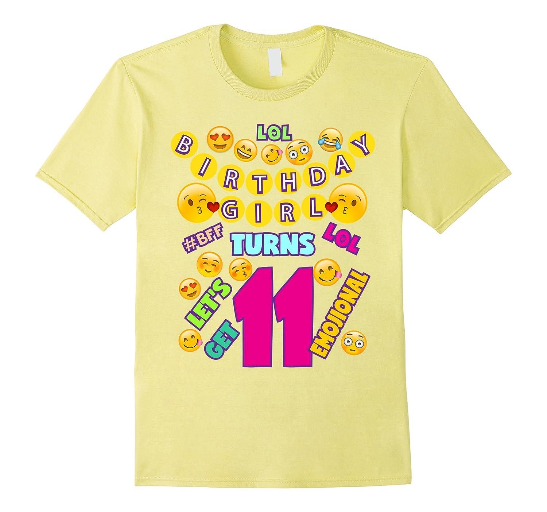 Emoji Birthday T Shirt For Girls 11 LOL BFF Emojional TD