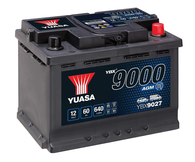 12 V 680 Ah//60 A Yuasa YBX9027 AGM Start Stop batteria Plus