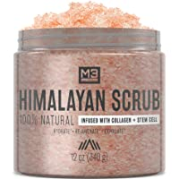Deals on M3 Naturals Himalayan Salt Infused w/Collagen and Face Scrub