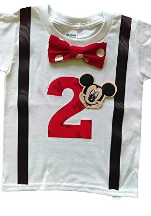 Amazon 2nd Birthday Shirt Boys Mickey Mouse Tee Clothing