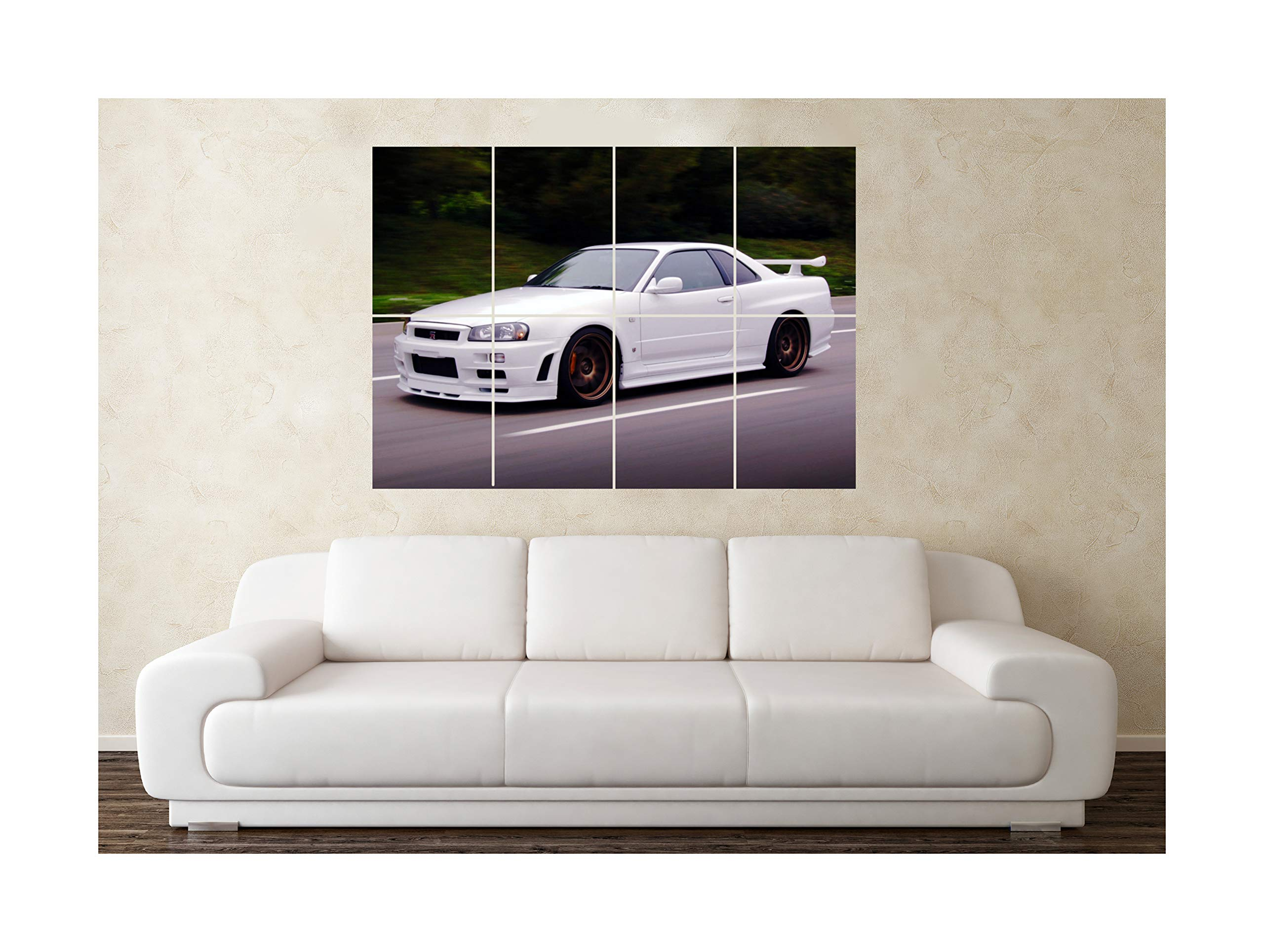 Nissan Skyline R34  Wall Poster Grand format A0 Large Print
