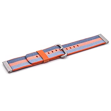 vhbw Correa de Nylon Azul/Naranja 22mm para smartwatch ...