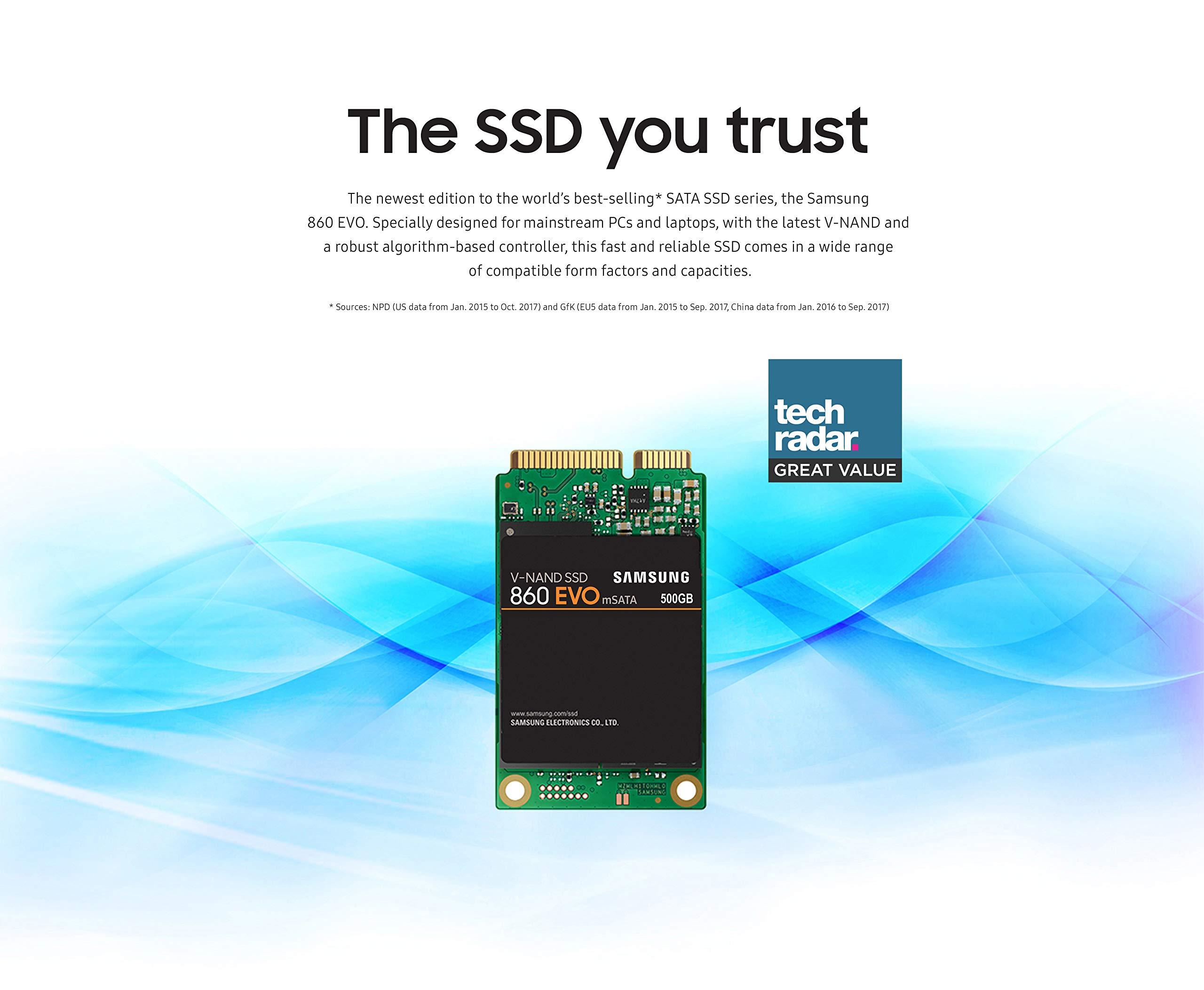 Samsung SSD 860 EVO 1TB mSATA Internal SSD (MZ-M6E1T0BW) by Samsung (Image #4)