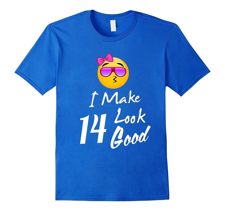 Emojicon 14th birthday gift shirt 14 year old teenage girl-PL