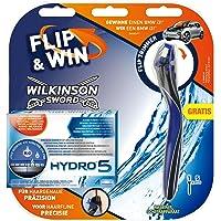 Wilkinson Sword Hydro 5 Fliptrimmer, 5 Klingen plus Handstück mit Aktionscode