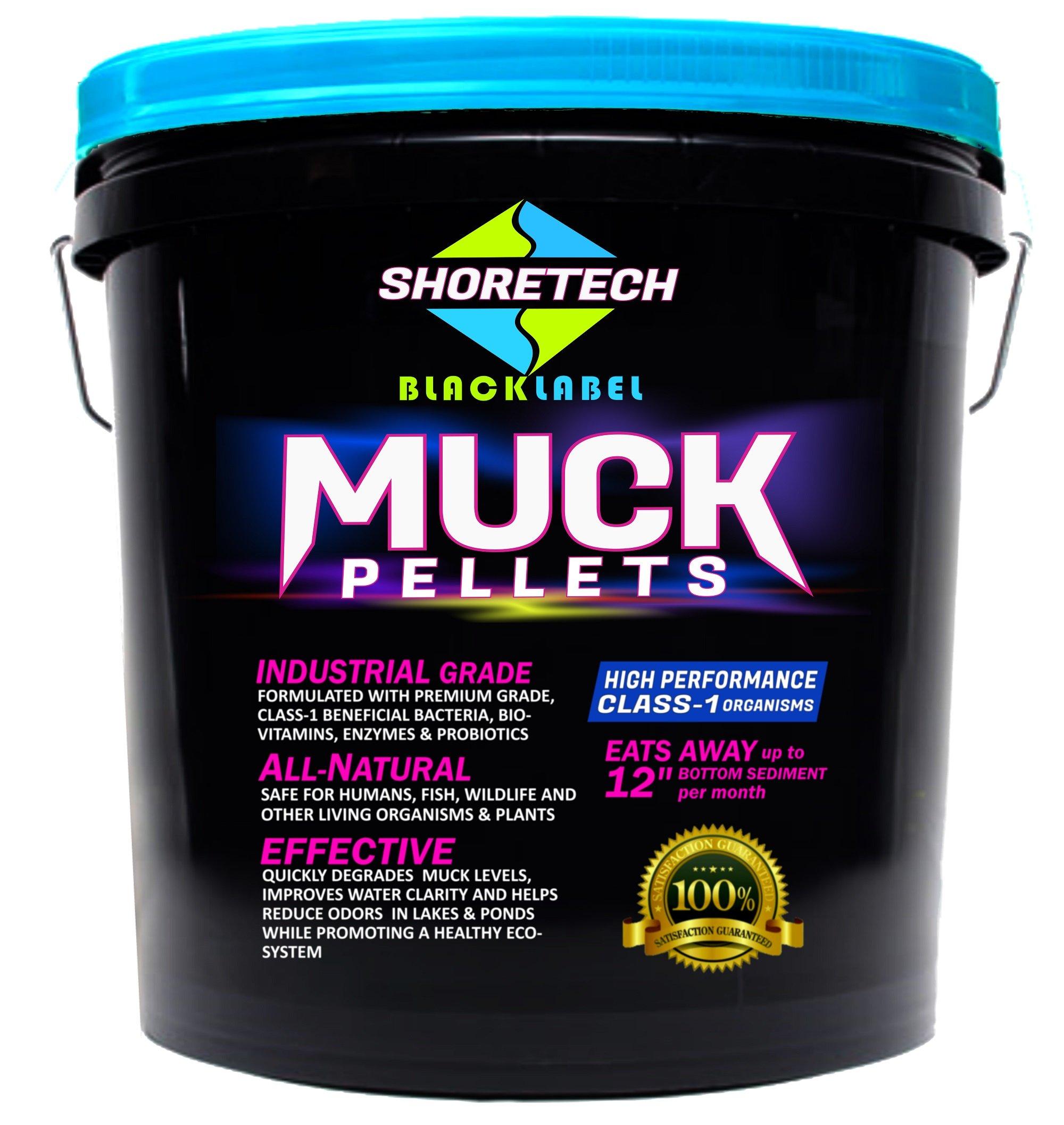 Black Label MUCK Pellets Commercial Grade Class-1 Bacteria Enzymes Probiotics Bio-Vitamins (30 lb)