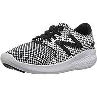 New Balance Boys' Coast v3 Hook and Loop Running Shoe, Black/White, 4 W US Toddler