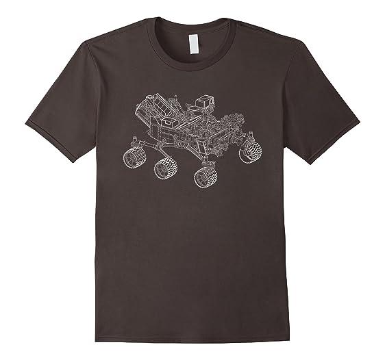 Amazon usa mars rover blueprint design space shuttle apparel mens usa mars rover blueprint design space shuttle apparel 2xl asphalt malvernweather Images