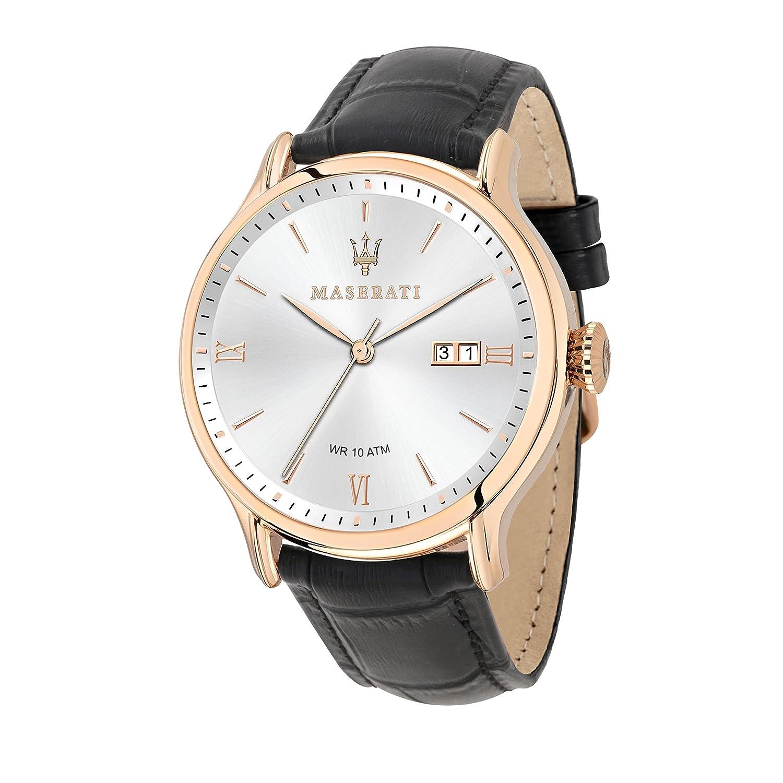 MASERATI Reloj Analógico para Hombre de Cuarzo con Correa en Cuero R8851118008