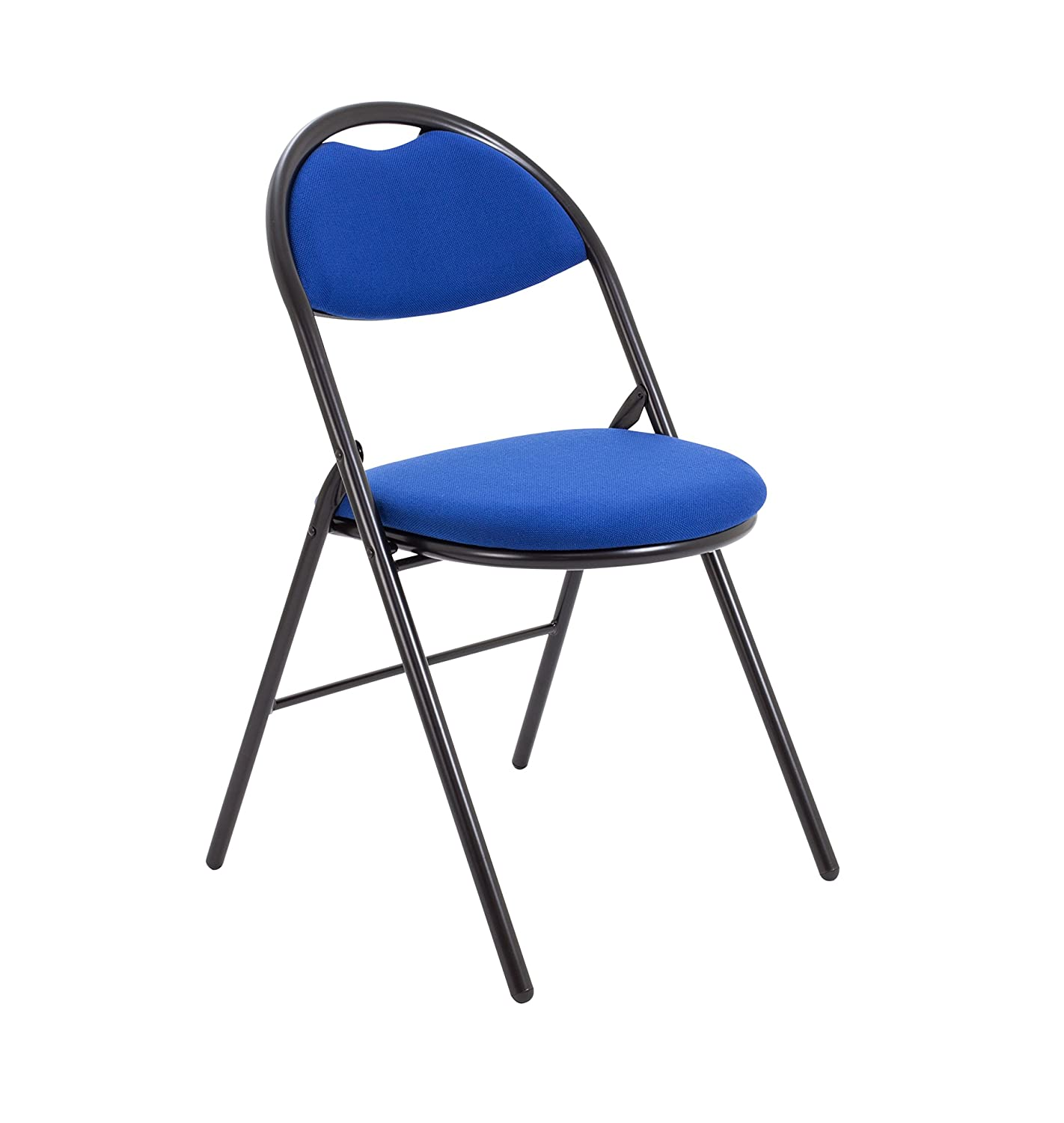 Office Hippo Folding Upholstered Meeting Chair, Fabric - Royal Blue TC Group OHS0110RB