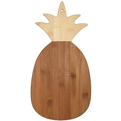 91b3061177424 Amazon.com  Totally Bamboo 20-7640 Pineapple Cutting Board, One Size ...
