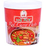 Mae Ploy Red Curry Paste, Authentic Thai Red Curry Paste For Thai Curries And Other Dishes, Aromatic Blend Of Herbs, Spices A