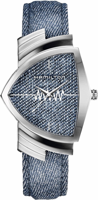 Hamilton Ventura Classic/reloj unisex/Esfera Azul/caja acero/correa tela vaquero y cuero