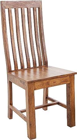 Sedia in legno massello Makassar 95 cm Sheesham legno sedia