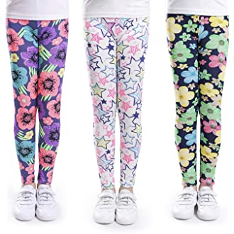 abb0201782d1de #6 slaixiu Girls Leggings Stretchy Kids Pants Classic Printing Flower  Pattern