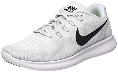 new products f5bc9 5772b Nike Men s Free RN 2017 Running Shoe White Black Pure Platinum Size 13 M