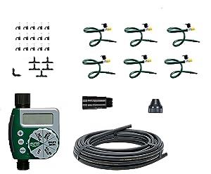 Orbit 56318 Hanging Basket Drip Irrigation Mist Watering Kit with Hose-End Timer