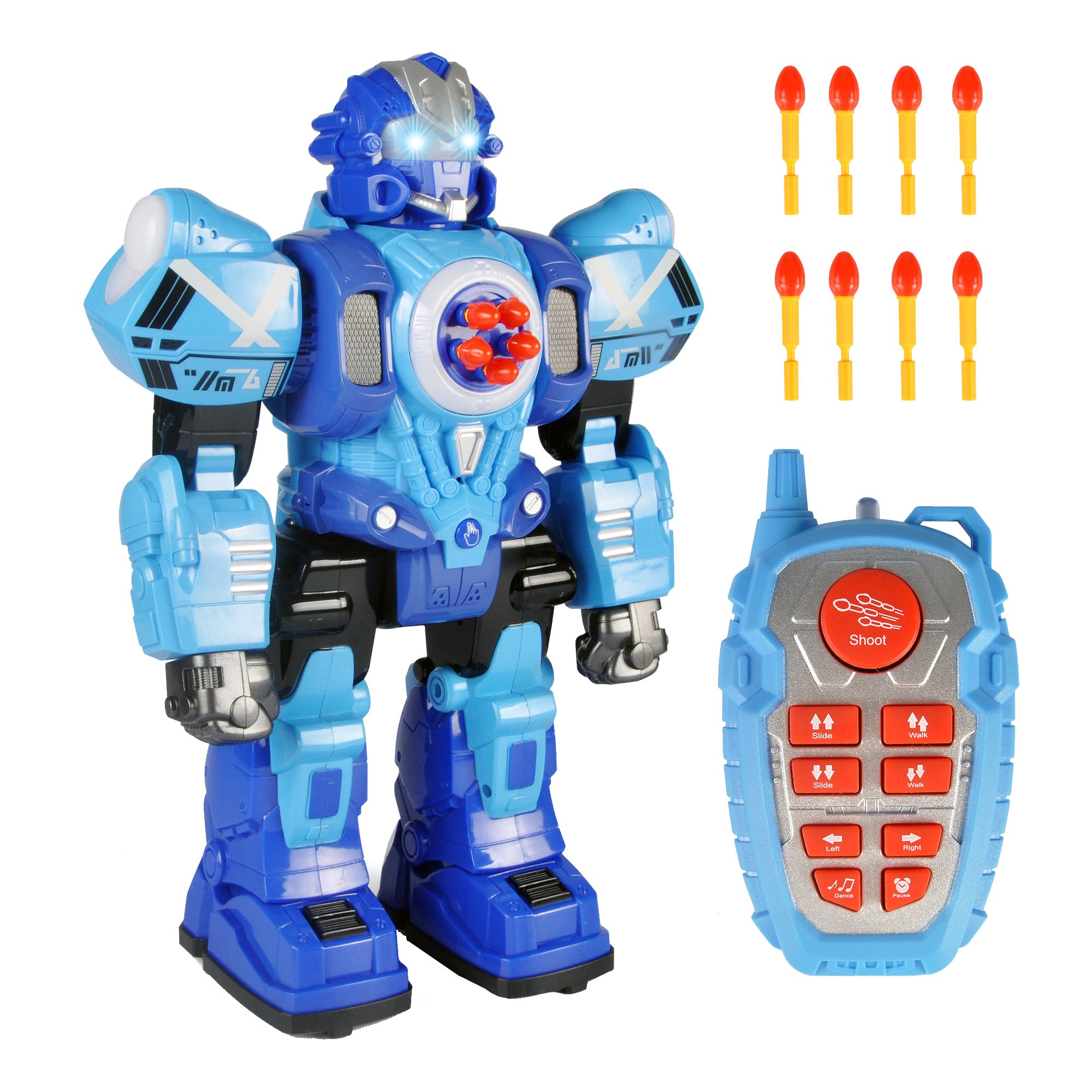 Liberty Imports Large Remote Control Robot Toy for Kids - RC Robot Shoots Darts, Walks, Talks, and Dances (10 Functions)