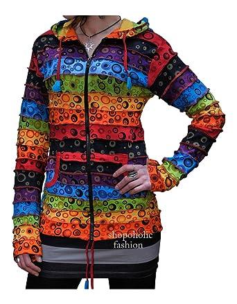 am besten authentisch hohe Qualität Brandneu Shopoholic Fashion - Damen Bunte Jacke Mit Blasenmuster ...