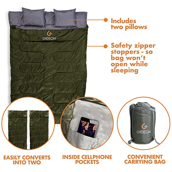 Gideon Extreme Waterproof Backpacking Double Sleeping Bag
