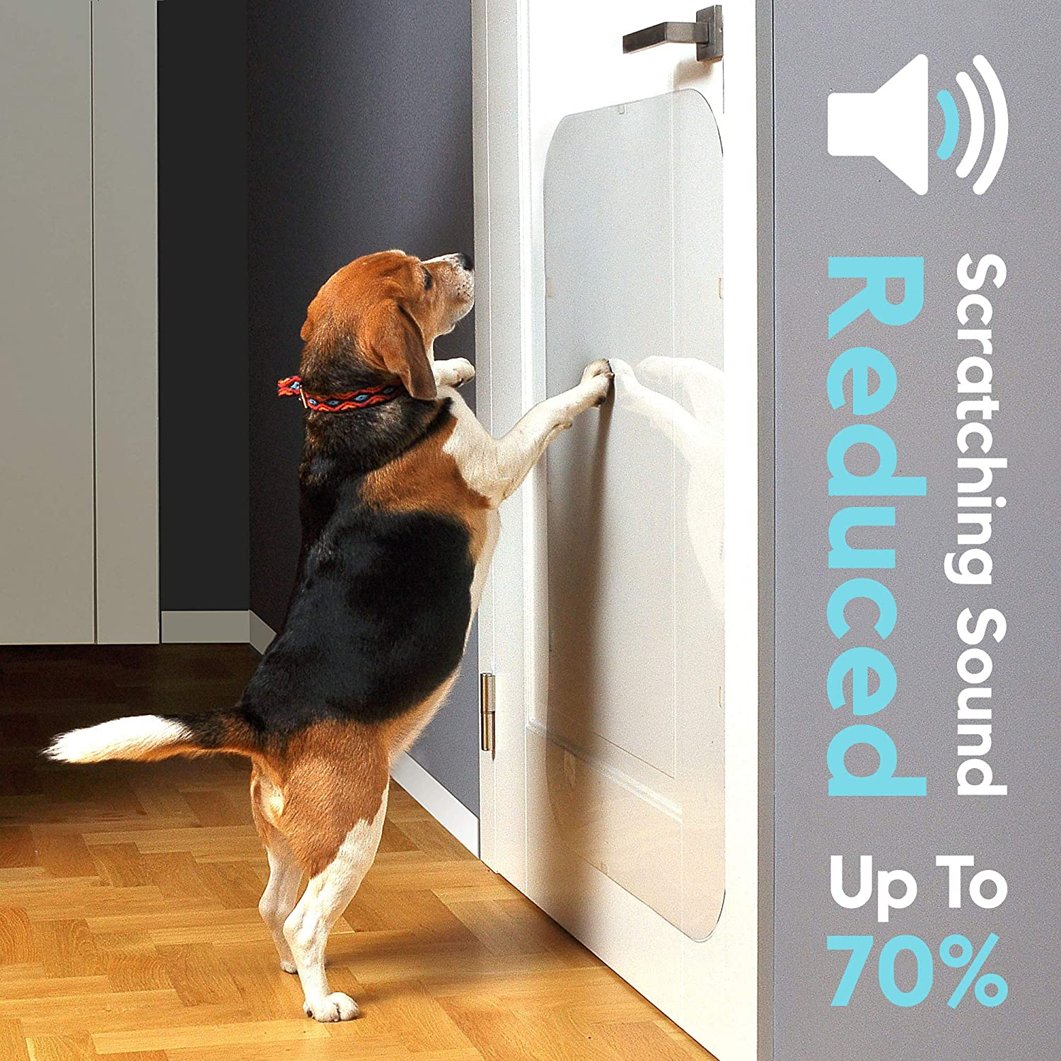 """35 x 15/"""" Heavy Duty Shield to Stop Pets from Furniture Scratching Durable /& Clear Dog /& Cat Anti Claw Guard Big PROTECTO Door Scratch Protector"""
