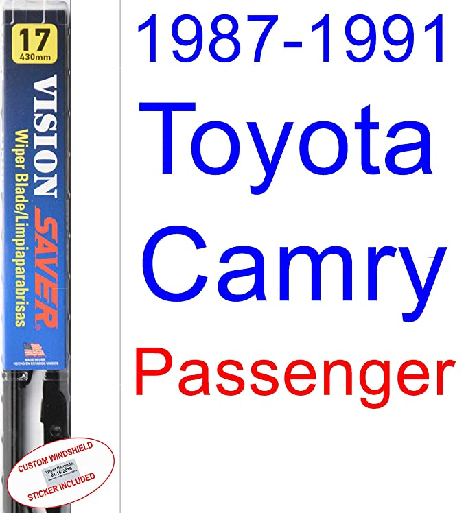 Amazon.com: 1987-1991 Toyota Camry Wiper Blade (Driver) (Saver Automotive Products-Vision Saver) (1988,1989,1990): Automotive