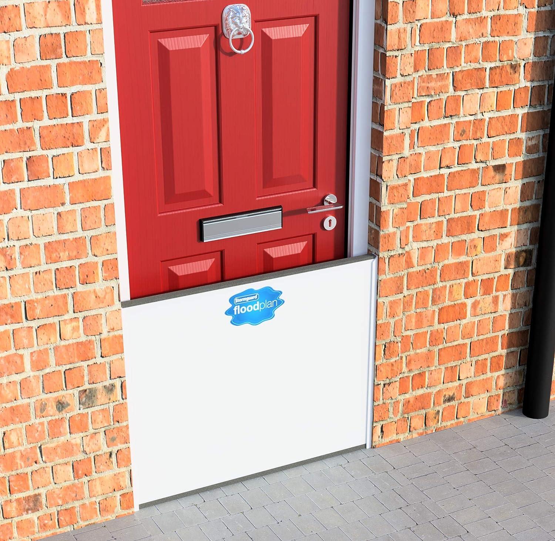 Blanc Stormguard Floodplan 30/Fp001/Plan Porte simple kit de barri/ère de chantier universel 1000/mm de large x 50/mm de hauteur 750/mm