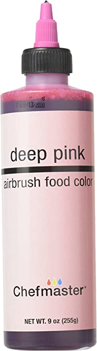 Chefmaster Airbrush Spray Food Color, 9-Ounce, Deep Pink